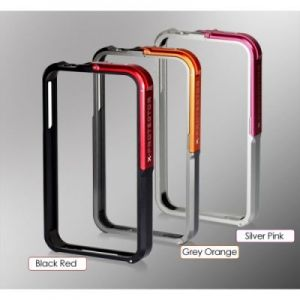 FiiO X-Protector BLACK-RED - metalowa obudowa na iPhone 4/4s